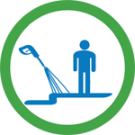 Sidewalk Cleaning icon